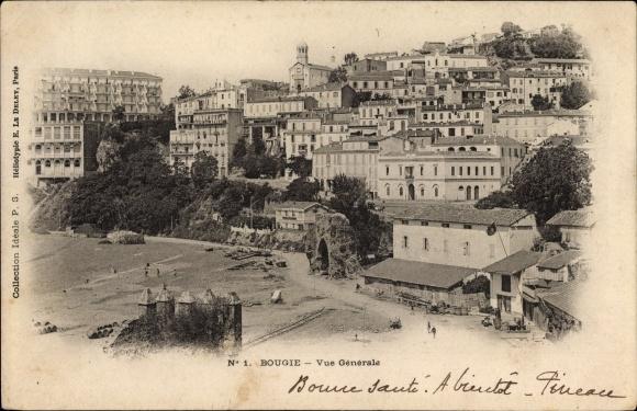 Ak Bougie Bejaia Algerien, Stadtpanorama, Gebäude, Vue generale