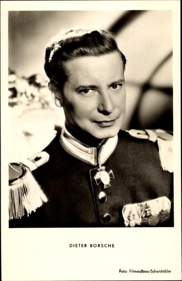 Ak Schauspieler Dieter Borsche, Portrait in Uniform, Königliche Hoheit