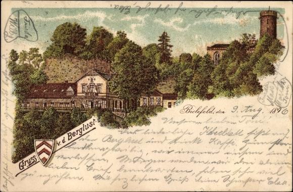 Litho Bielefeld in Nordrhein Westfalen, Restaurant Berglust und Aussichtsturm