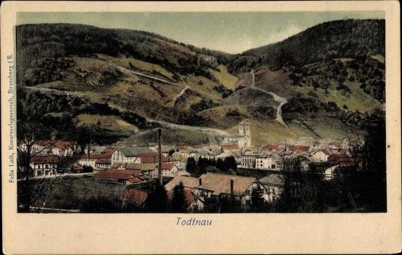 Ak Todtnau im Südschwarzwald Kreis Lörrach, Blick auf den Ort mit Umgebung