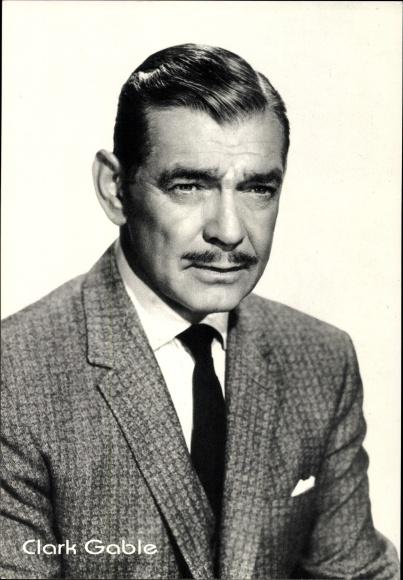 Ak Schauspieler Clark Gable, Portrait im Anzug, Drei Rivalen, Vom Winde verweht