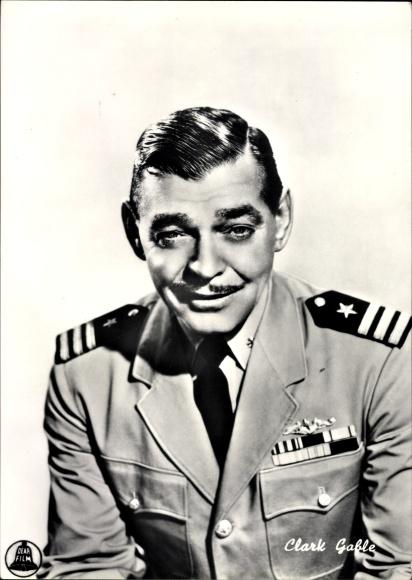 Ak Schauspieler Clark Gable, Portrait in Uniform, Vom Winde verweht, Mare caldo