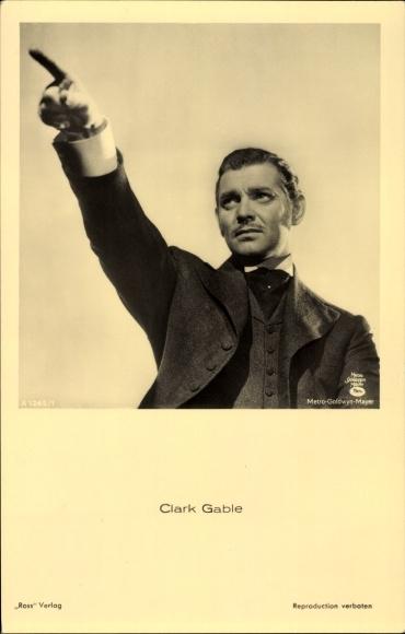 Ak Schauspieler Clark Gable, Portrait, Ross Verlag A 1245/1