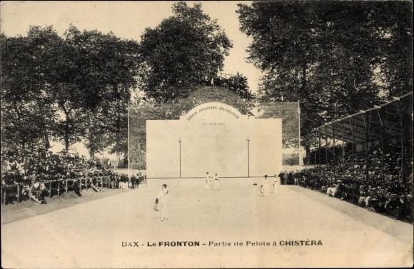 Ak Dax Landes, Le Fronton, Partie de Pelote à Chistèra