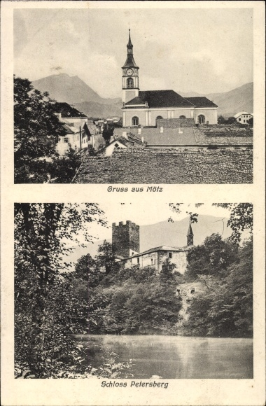 Ak Mötz in Tirol, Kirche, Schloss Petersberg