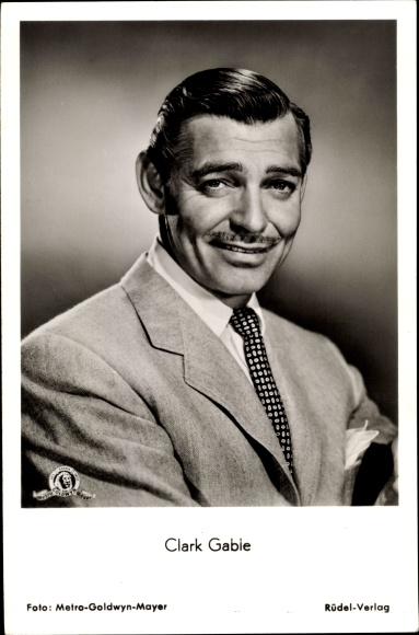 Ak Schauspieler Clark Gable, Portrait im Anzug, Vom Winde verweht, Colorado