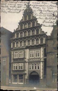 Foto Ak Bad Salzuflen im Kreis Lippe, Cafe Mohrfeld, Außenansicht, Giebelhaus
