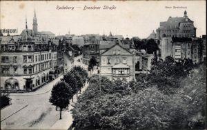 Ak Radeberg im Kreis Bautzen Sachsen, Dresdner Straße, Neue Realschule