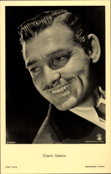 Ak Schauspieler Clark Gable, Portrait, Ross Verlag A 1969/1