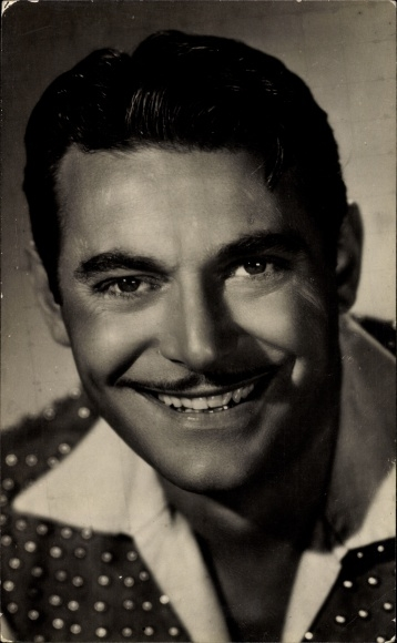 Ak Schauspieler John Hall, Portrait, gepunktetes Hemd