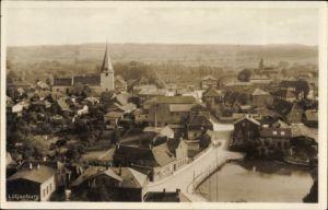 Ak Lütjenburg in Schleswig Holstein, Blick auf Stadt und Kirche