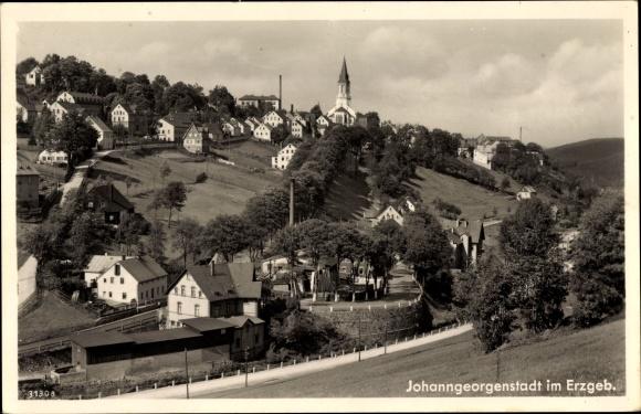 Ak Johanngeorgenstadt im Erzgebirge Sachsen, Panorama vom Ort
