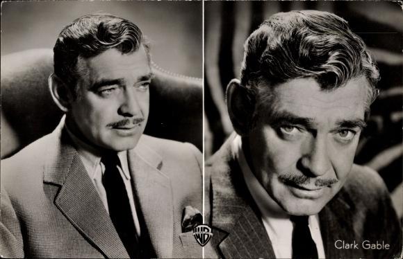 Ak Schauspieler Clark Gable in dem WarnerScope-Farbfilm Weint um die Verdammten