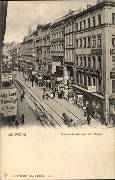 Ak Leipzig in Sachsen, Blick auf den Neumarkt während der Messe