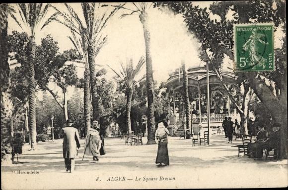 Ak Algier Alger Algerien, Le Square Bresson, Hirondele