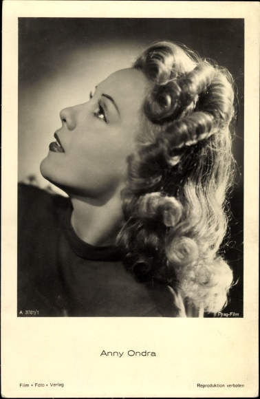 Ak Schauspielerin Anny Ondra, Portrait, Profilansicht, Locken
