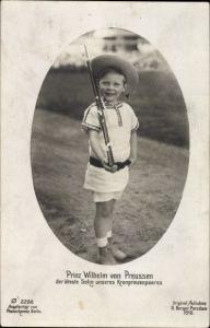 Ak Prinz Wilhelm von Preußen, Sohn von Kronprinz Wilhelm von Preußen, PH 2286
