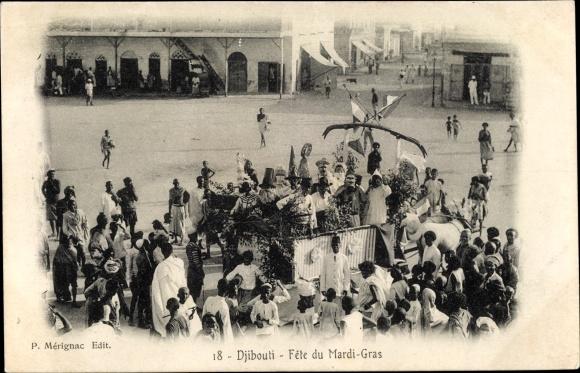 Ak Djibouti Dschibuti, Fête du Mardi Gras, Feierlichkeiten