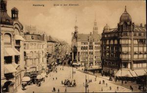 Ak Hamburg Mitte Altstadt, Blick in den Altenwall