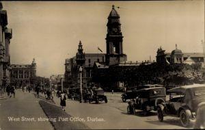 Ak Durban Südafrika, West street, showing Post Office
