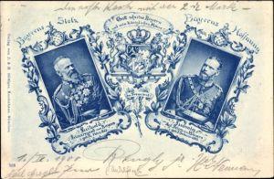 Ak Prinzregent Luitpold von Bayern, König Ludwig III. von Bayern, Bayerns Stolz, Bayerns Hoffnung