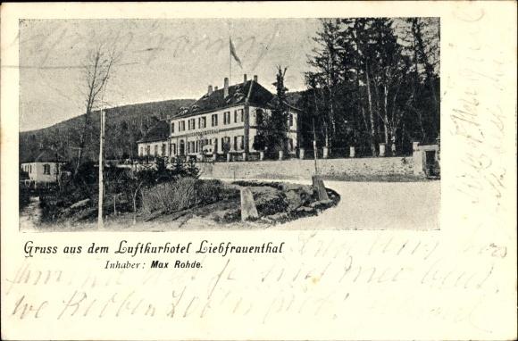 Ak Zwischen Walbourg Walburg Elsass Bas Rhin und Lembach Elsass Bas Rhin,Luftkurhotel Liebfrauenthal