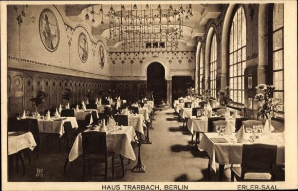 Ak Berlin Mitte, Weinstube Haus Trarbach, Erler Saal, Innenansicht, Behrenstraße