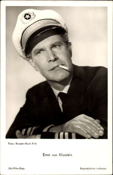 Ak Schauspieler Ernst von Klipstein, Portrait mit Zigarette, In Hamburg sind die Nächte lang