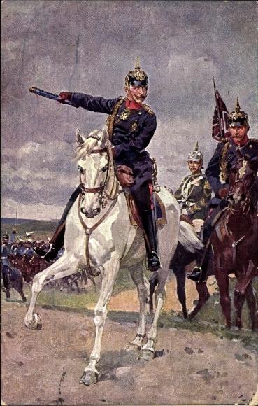 Künstler Ak Kaiser Wilhelm II., Kronprinz Wilhelm von Preußen, Garde du Corps
