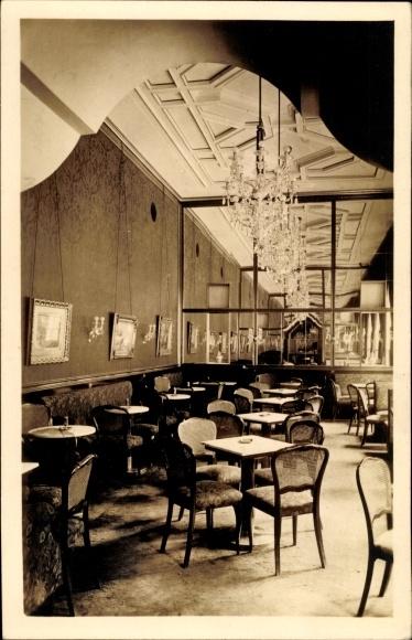 Ak Wien, Hotel Sacher, Kaffee Salon, Innenansicht 0