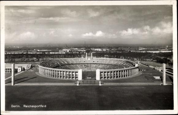 Ak Berlin Charlottenburg, Reichssportfeld, Olympia 1936, Fußballspiel 0