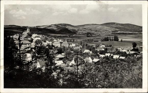 Ak Štíty Schildberg Reg. Olmütz, Blick auf Ortschaft und Umgebung 0
