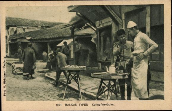 Ak Balkan Typen, Kaffee Verkäufer, Türken oder Mazedonier