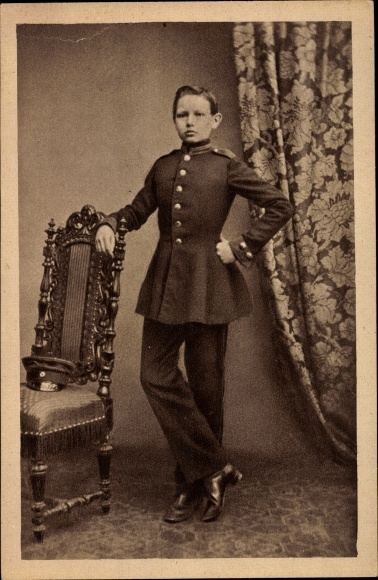 Ak Generalfeldmarschall Paul von Hindenburg, Kadett in Wahlstatt 1860