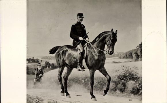 Künstler Ak Bache, Frederiksborg Dänemark, Otto, Kong Christian IX, König von Dänemark, Pferd