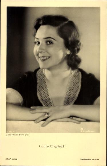 Ak Schauspielerin Lucie Englisch, Portrait, Fingerring, Ross Verlag 7062 1