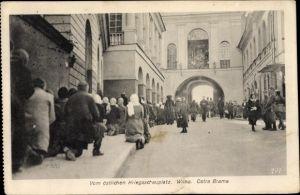 Ak Vilnius Wilna Litauen, Vom östlichen Kriegsschauplatz, Ostra Brama