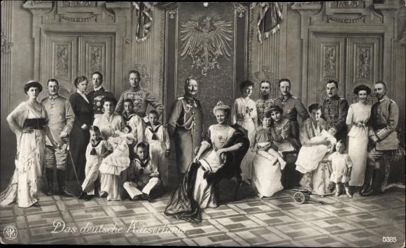 Ak Das deutsche Kaiserhaus, Kaiser Wilhelm II. von Preußen, Kaiserin Auguste Viktoria, NPG 5385