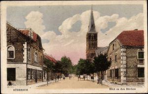 Ak Büderich Wesel am Niederrhein, Blick zu den Kirchen
