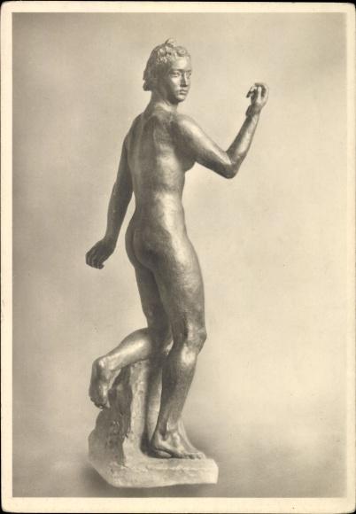 Ak Plastik Fortuna von Georg Kolbe, Berliner Kunstausstellung 1942, Nationalgalerie