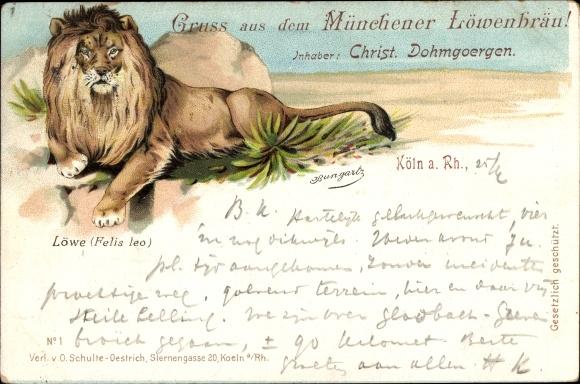 Litho Köln am Rhein, Münchener Löwenbräu, Inh. C. Dohmgoergen