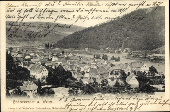 Ak Bodenwerder in Niedersachsen, Panoramablick auf die Stadt