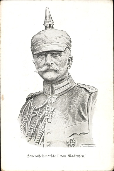Künstler Ak Generalfeldmarschall August von Mackensen, Portrait