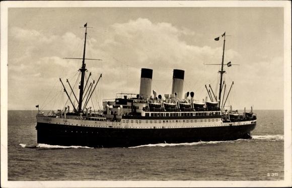 Ak Dampfschiff Monte Sarmiento, HSDG, Zweischrauben Motorschiff