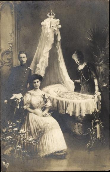 Ak Kaiser Wilhelm II. von Preußen, Kronprinzessin Cecilie von Preußen, Kaiserin Auguste Viktoria