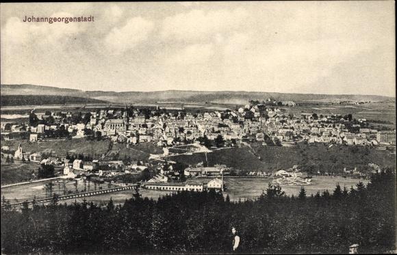 Ak Johanngeorgenstadt im Erzgebirge Sachsen, Totalansicht vom Ort