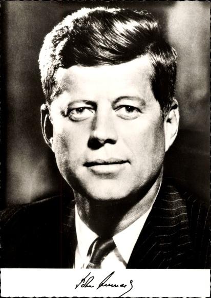 Ak John F. Kennedy, 35. Präsident der Vereinigten Staaten, Portrait