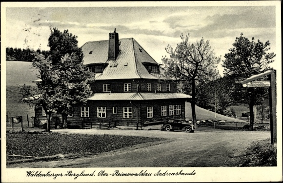 Ak Rybnica Leśna Reimswaldau Schlesien, Waldenburger Bergland, Andreasbaude