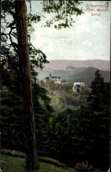 9 alte Ak Schwarzburg im Schwarzatal Thüringen, diverse Ansichten