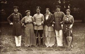 Ak Kronprinz Wilhelm von Preußen, Kronprinzessin Cecilie, Eitel Friedrich, August Wilhelm, Liersch